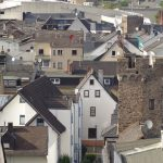 Foto: Blick vom Pulverturm zum Hexenturm / Stadtverwaltung Lahnstein)