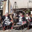 Das historische Heerlager der Ehrengarde ist ein optisches Highlight der Markttage.