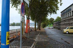 Das Areal zwischen dem Eingang zum Schlosspark und dem Deichtor an der Schlossstraße wird als erstes in Angriff genommen, damit der Biergarten im kommenden Frühjahr wieder öffnen kann.