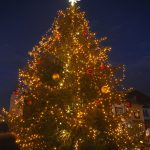 Weihnachtsbaum erstrahlt in voller Pracht
