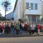 Das Interesse am Dorfrundgang in Stromberg war groß.