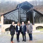 Mechthild Heil (2.v.l.) ließ sich von Steffi Zurmühlen, Michael Kessler und Werner Prümm über das Denkmalareal Sayner Hütte führen