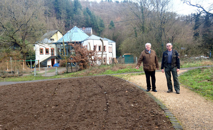 Eine Blumenwiese für Sayn – Stadtgärtner im Pfarrgarten aktiv