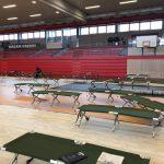 Aufbau einer Pflegehilfseinrichtung auf der Karthause