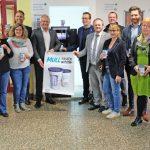Initiatoren und Kooperationspartner präsentierten gemeinsam den Neuwied-Becher.