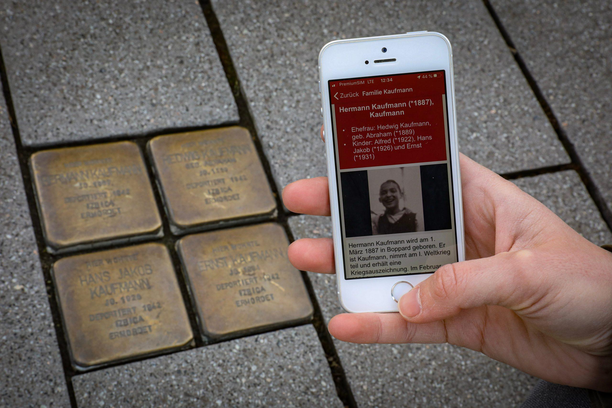 Digitale Stolperstein-Gedenkrouten in Koblenz App