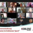 """Foto: Special Olympics Rheinland-Pfalz: Rund 25 Teilnehmende waren bei der digitalen Auftaktveranstaltung """"Inklusion im Koblenzer Sport"""" dabei."""