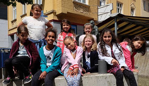 Kinder lernen die Neuwieder Innenstadt kennen
