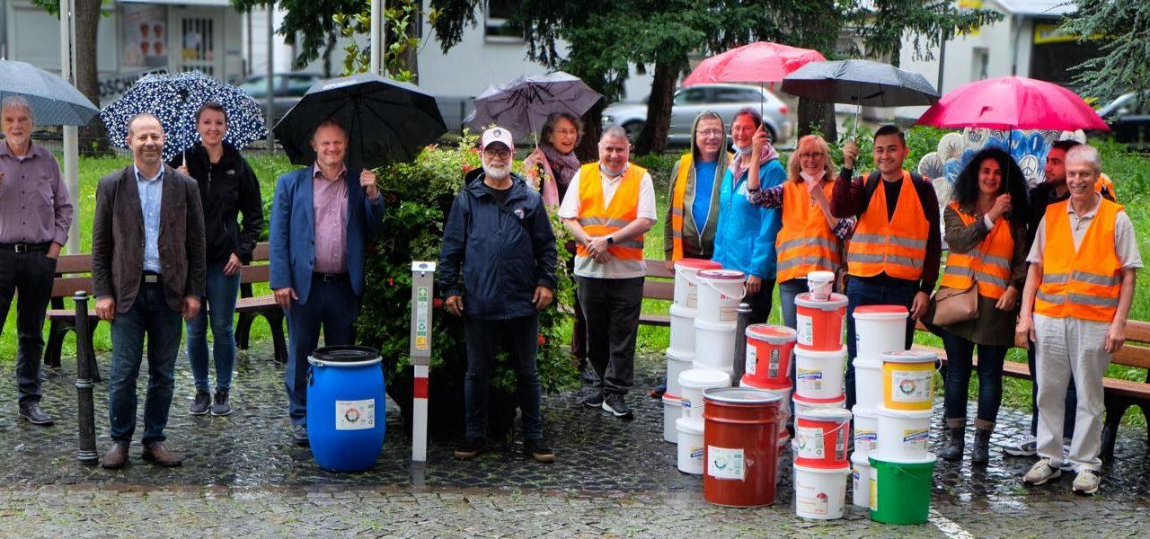 Recyceln statt Wegwerfen: Aus Kippen werden Ascher – Stadt Neuwied macht mit – Spezial-Sammelbehälter aufgestellt