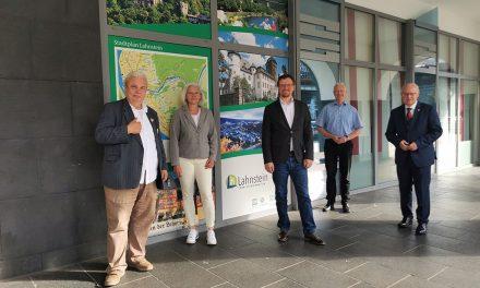 Lahnsteiner Oberbürgermeister Labonte begrüßt neuen Geschäftsführer des Lahntal Tourismus Verbands