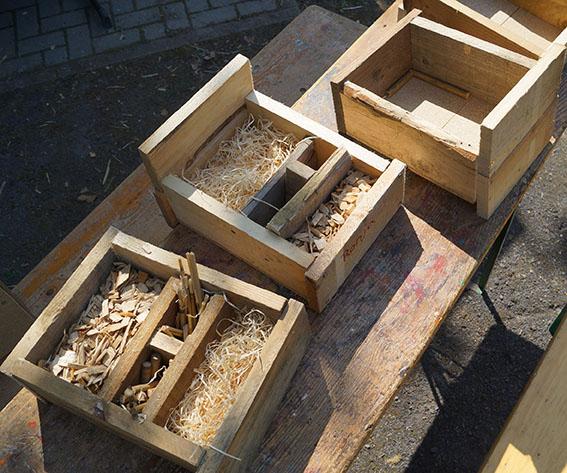 Bauspielplatz: Neues Hüttendorf errichtet